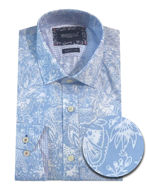 Picture of Brooksfield Blue Paisley Print Luxe Shirt