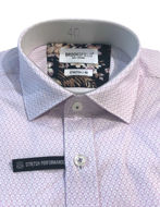 Picture of Brooksfield Lilac Racket Pattern Stretch Real Shirt
