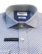 Picture of Brooksfield Blue Abstract Pattern Stretch Real Shirt