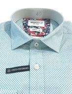 Picture of Brooksfield Aqua Geo Pattern Stretch Real Shirt