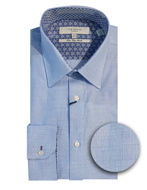 Picture of Ted Baker Endurance Grid Timeless Blue Stretch Shirt