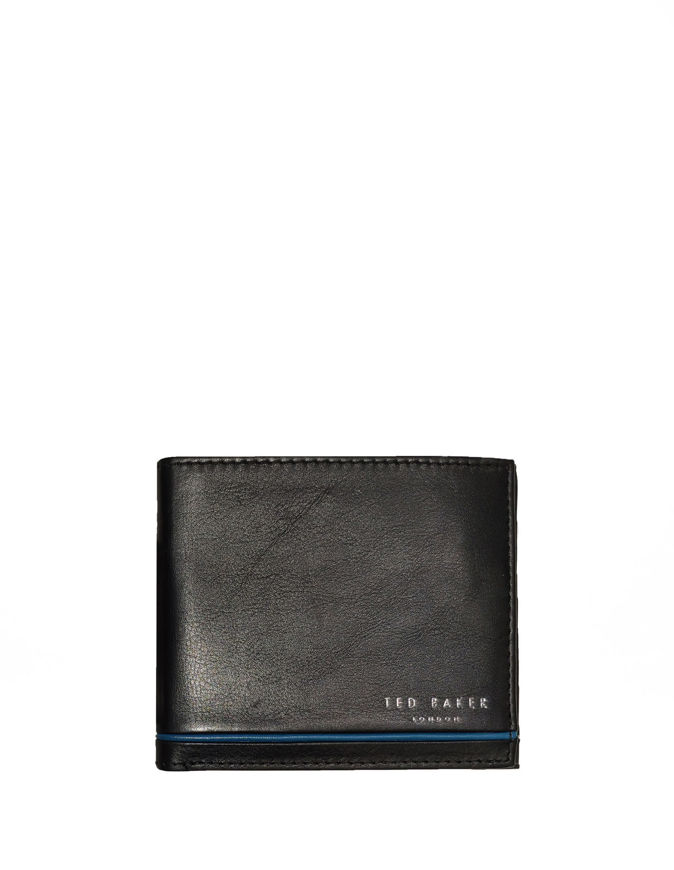 Picture of Ted Baker Black Stripe Bifold Wallet