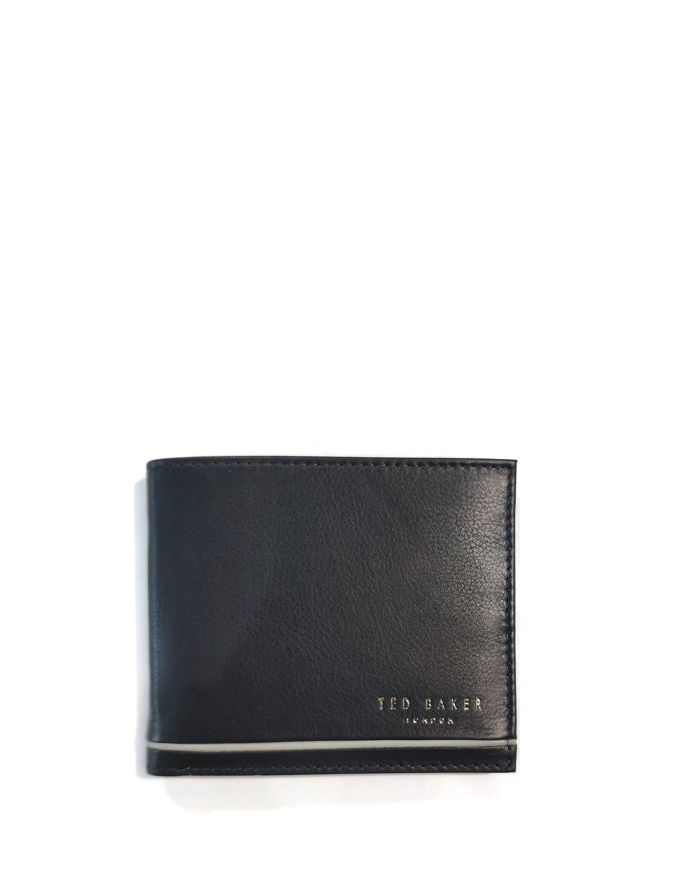 Picture of Ted Baker Navy Stripe Bifold Wallet