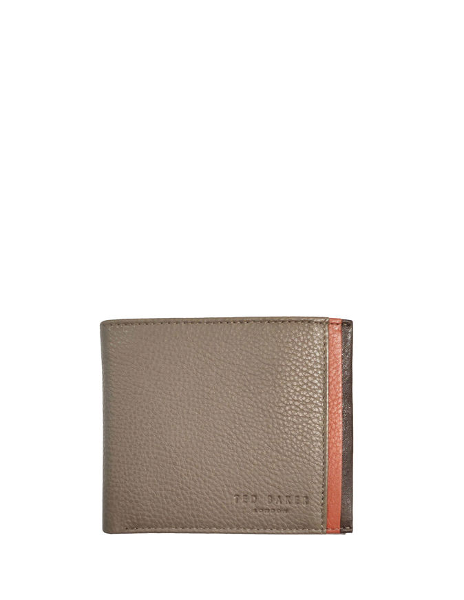 Picture of Ted Baker Leather Bifold Taupe Wallet