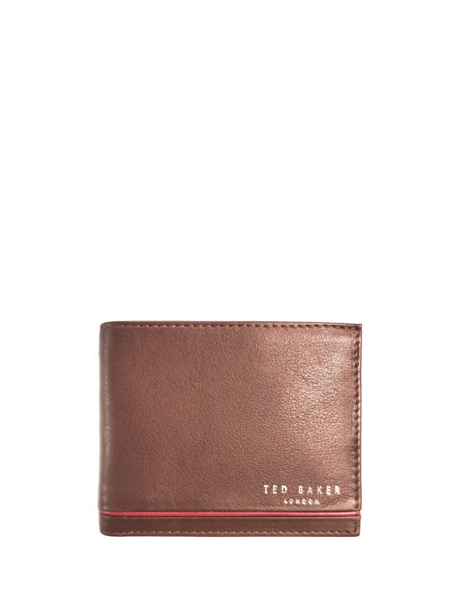 Picture of Ted Baker Tan Stripe Bifold Wallet