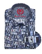 Picture of Au Noir Portas Cotton Shirt in Blue