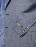 Picture of Studio Italia Blue Grey Over Check Suit