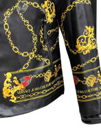 Picture of Versace Chained Shield Hooded Jacket