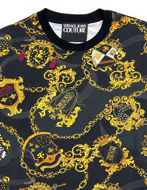 Picture of Versace Chains & Shields Camo Slim Tee