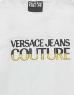 Picture of Versace Logo Embroidered White Slim Tee
