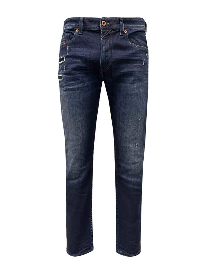 Picture of Diesel Thommer Dark Washed Distressed Jean