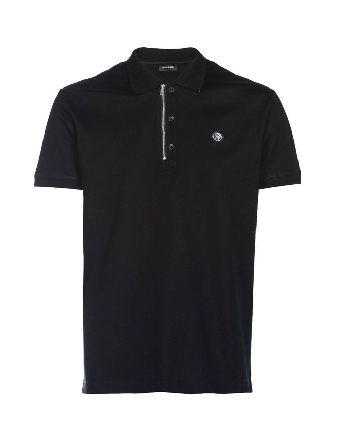 Picture of Diesel Black T-HART Zip S/S Polo