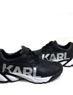 Picture of Karl Lagerfeld Silver Logo Black Sneaker