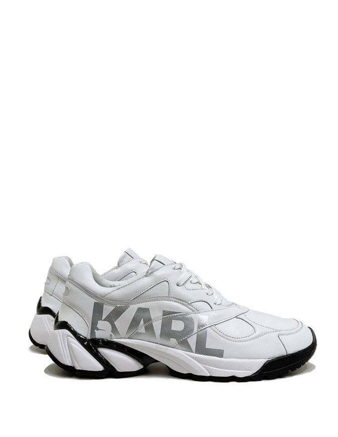 Picture of Karl Lagerfeld Silver Logo White Sneaker