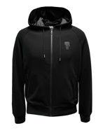 Picture of Karl Lagerfeld Black Ikonik Hood Sweat Tape Jacket