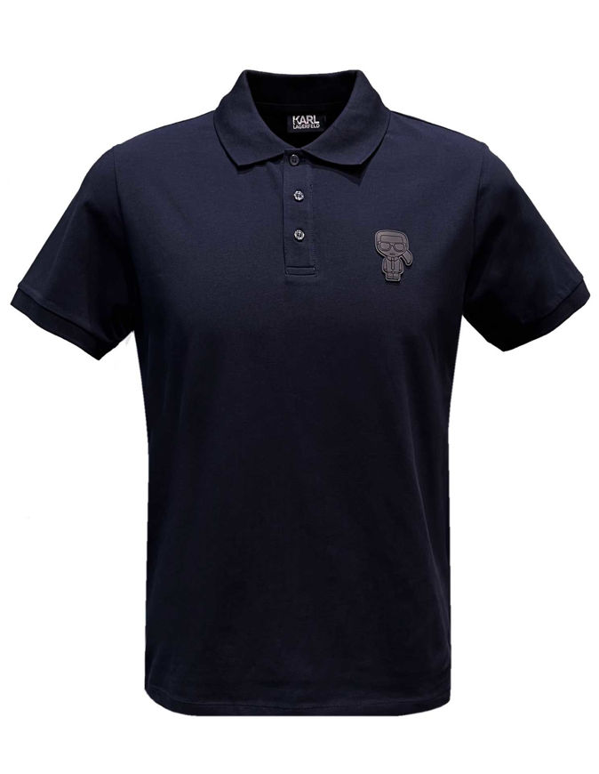Picture of Karl Lagerfeld Ikonik Tape Navy Polo