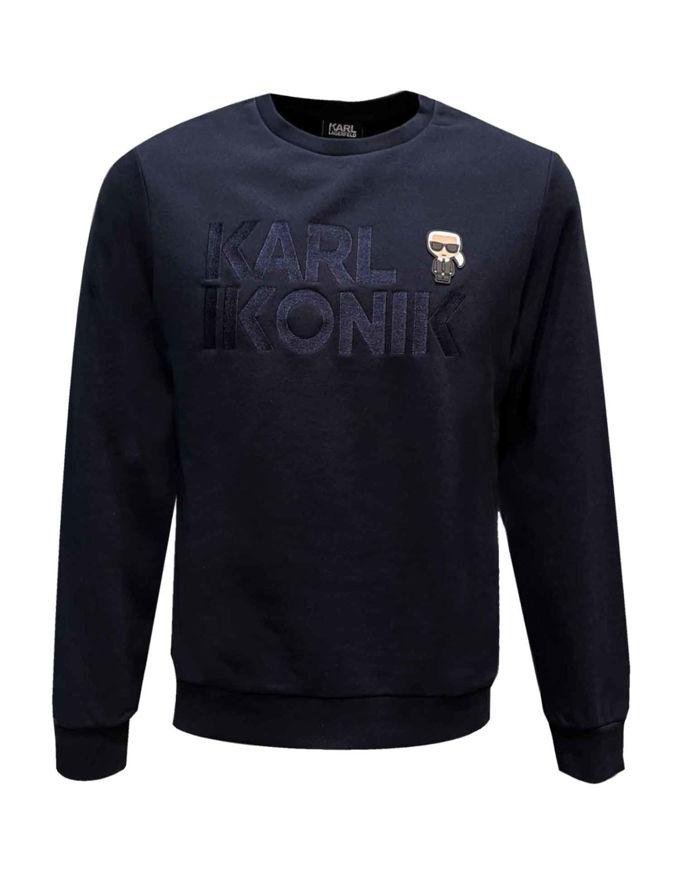 Picture of Karl Lagerfeld Navy Karl Logo Sweatshirt