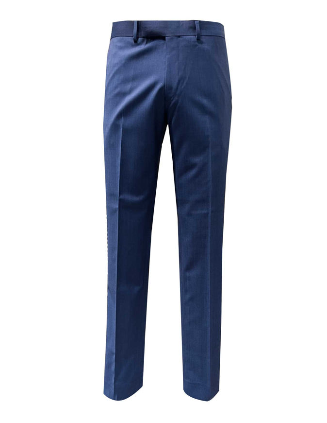 Picture of Studio Italia Icon Navy Blue Wool Trouser