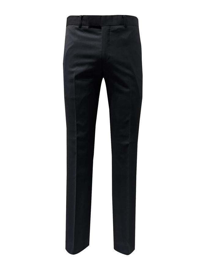 Picture of Studio Italia Stretch Slim Black Textured Trouser