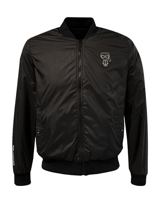 Picture of Karl Lagerfeld Reversible Black Bomber Jacket