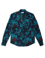 Picture of Pearly King Teal Brushed Cotton Floral Shirt