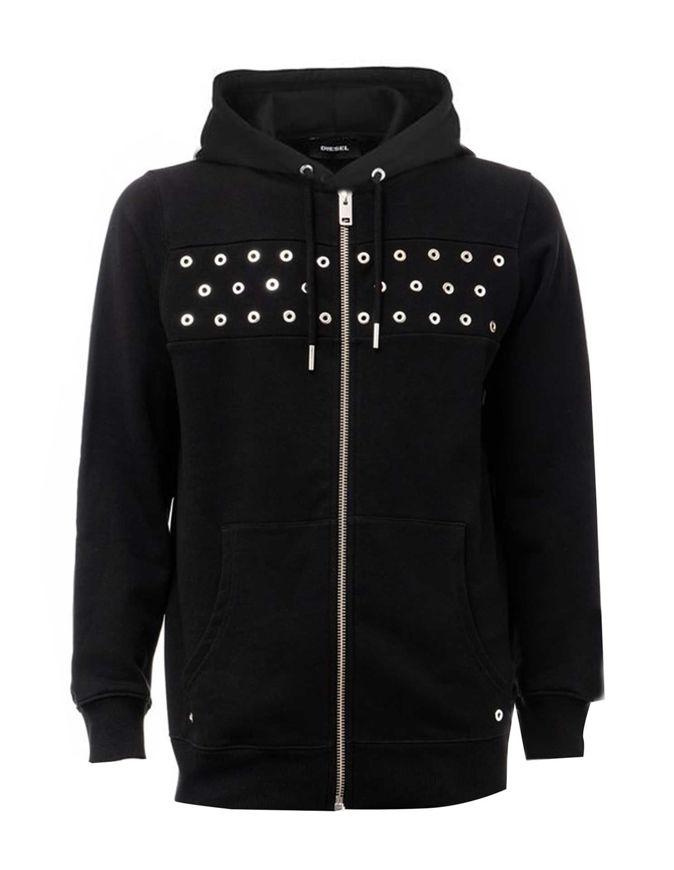 Picture of Diesel S-Gir Black Hood XMAS Sweat Shirt