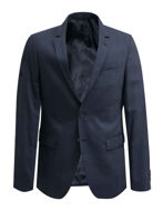 Picture of Karl Lagerfeld Stretch Check Navy 3 Piece Suit