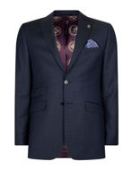 Picture of Ted Baker Square Check Navy Suit