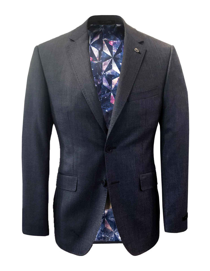 Picture of Ted Baker Navy Neat Check Suit