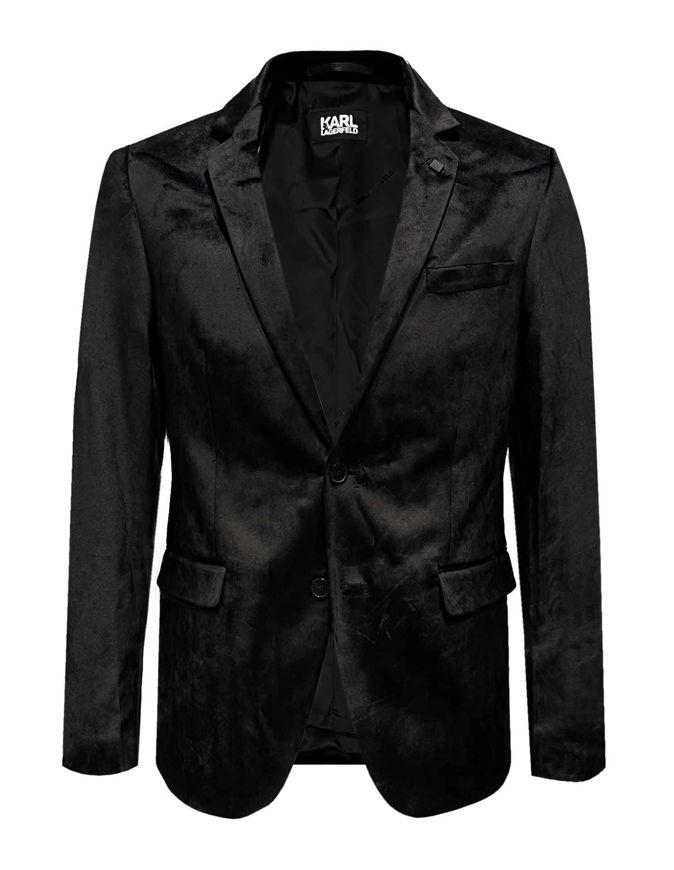 Picture of Karl Lagerfeld Silky Velvet Black Formal Jacket