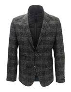 Picture of Karl Lagerfeld Zip Inner Grey Check Blazer