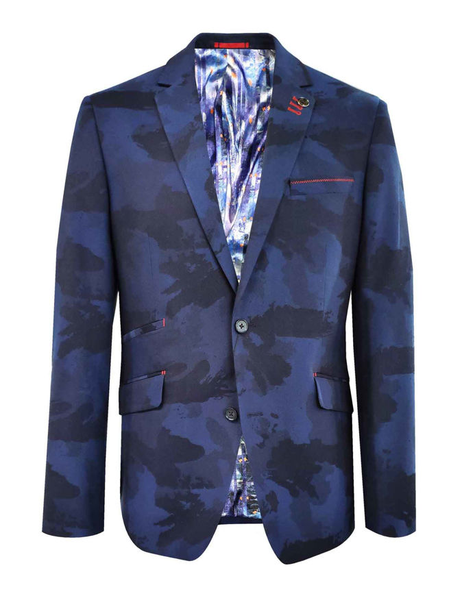 Picture of Au Noir Stretch Navy Camoflage Jacket