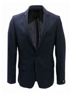 Picture of Karl Lagerfeld Navy Pure Cashmere Blazer
