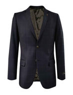 Picture of SI by Studio Italia Navy Overcheck 2 Trouser Suit