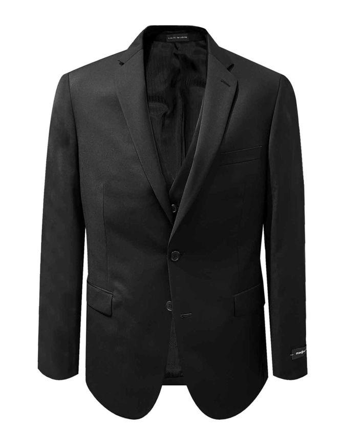 Picture of Studio Italia Jet Black 3 Piece Suit