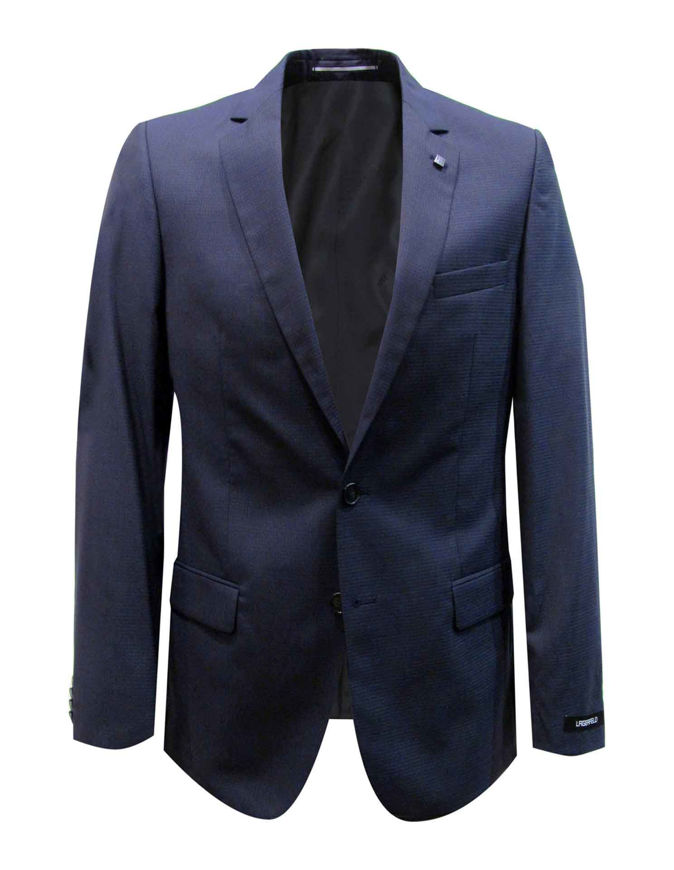 Picture of Lagerfeld Navy Neat Check Suit