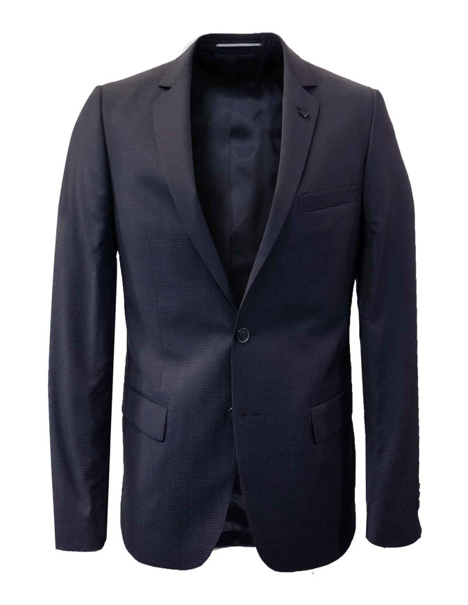 Picture of Lagerfeld Navy Micro Weave Suit