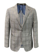 Picture of Studio Italia Grey Check Wool Linen Blazer