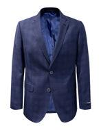 Picture of Studio Italia Navy Shadow Check Wool Blazer