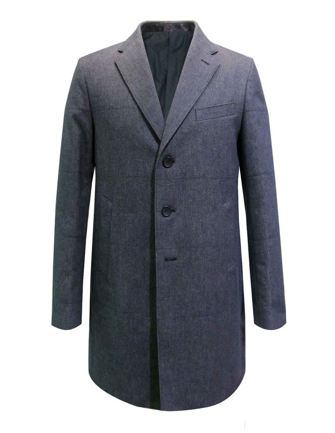 Picture of Reporter Grey Quilted Overcoat