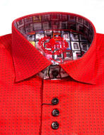 Picture of Au Noir Dixon Cotton Red Shirt