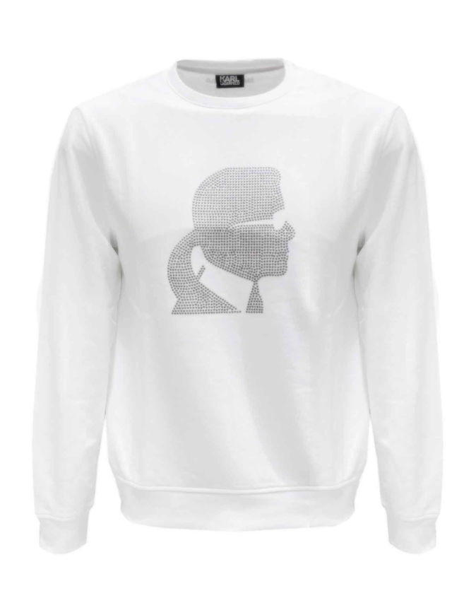 Picture of Karl Lagerfeld Studded White Sweatshirt