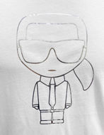 Picture of Karl Lagerfeld Silver & White Tee