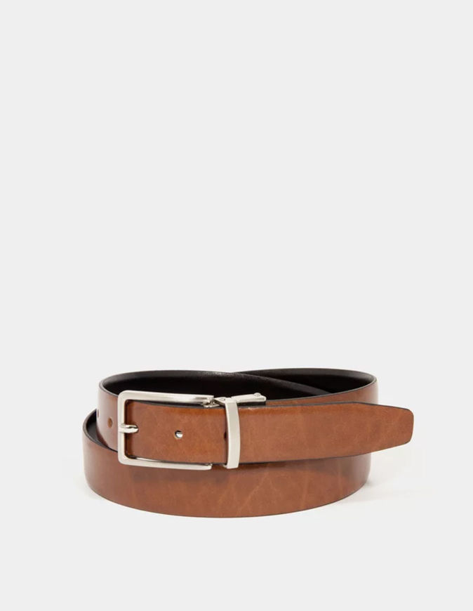 Picture of Loop Reversible Black & Tan 30mm Leather Belt