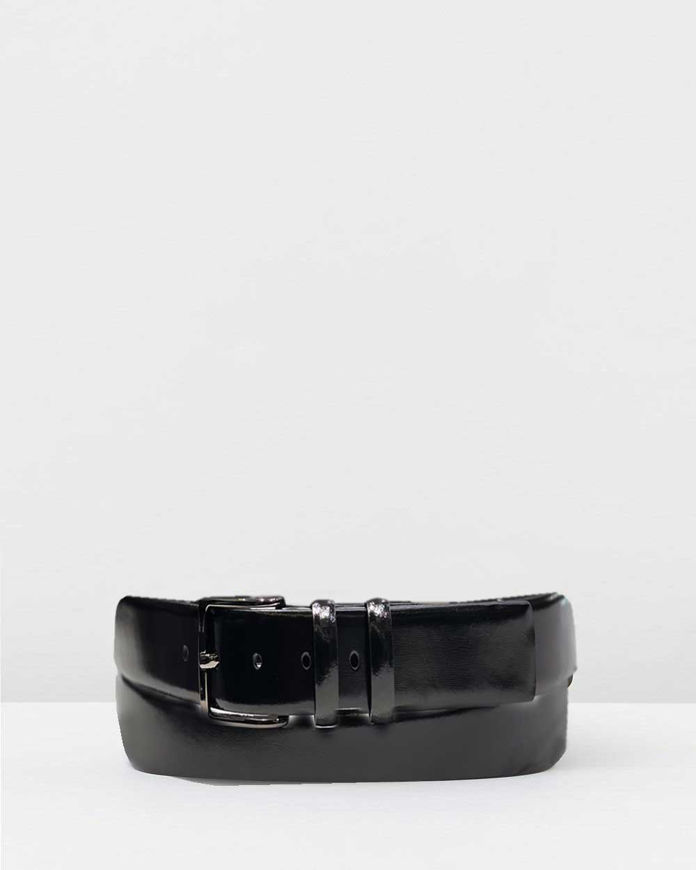 Picture of Loop Black Patent 30mm Double Keepers Belt