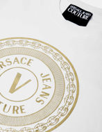 Picture of Versace Gold Logo Emblem White Slim Tee