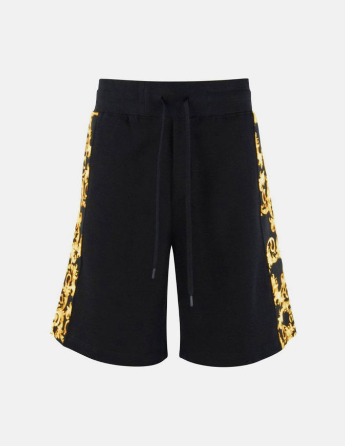 Picture of Versace Logo Baroque Black Sweat Shorts