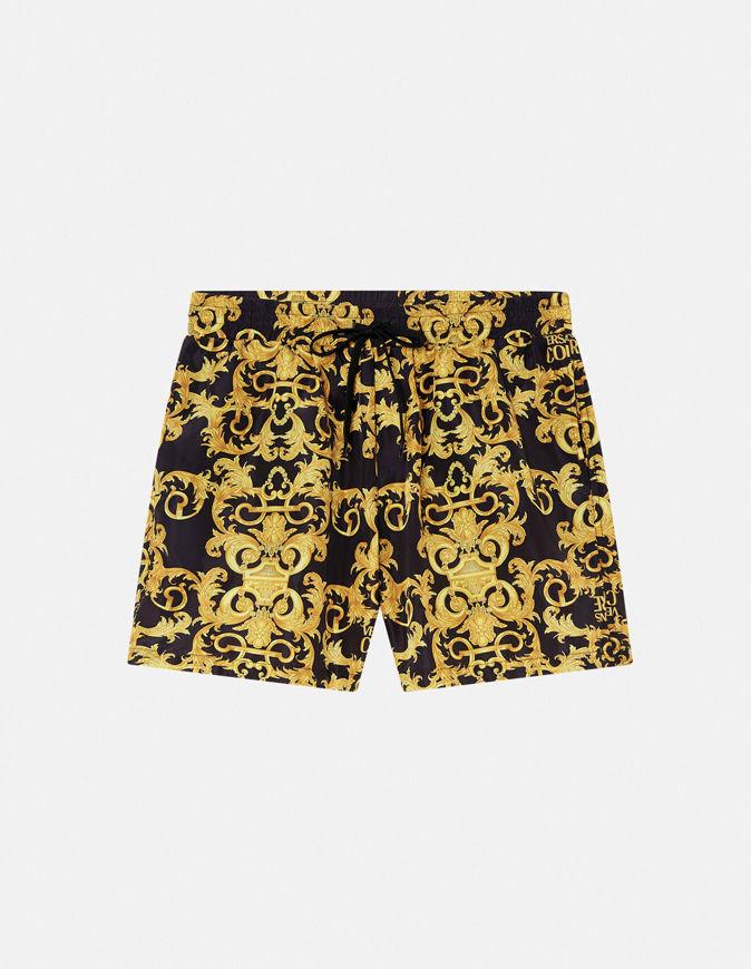 Picture of Versace Logo Baroque Swim Shorts