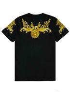 Picture of Versace Black Rococo Print Slim Tee
