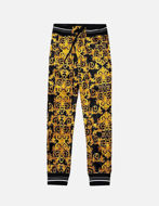 Picture of Versace Logo Baroque Velvet Trackpant